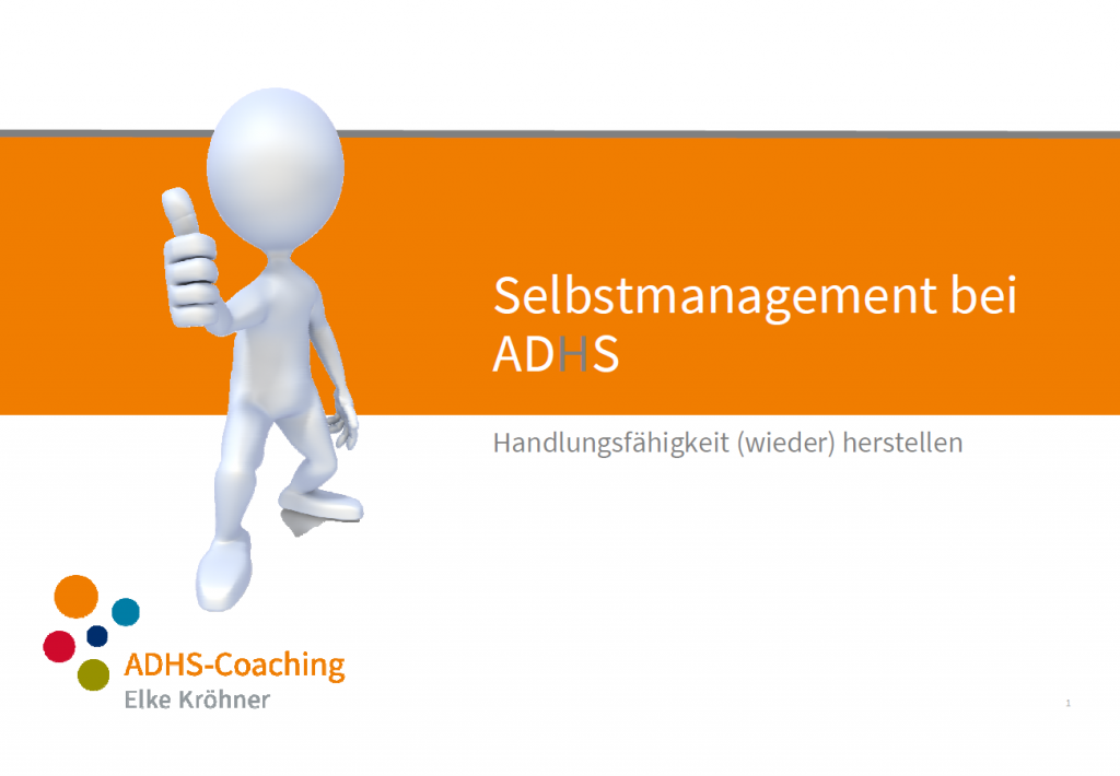 Selbstmanagement bei ADHS